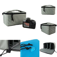 Waterproof DSLR SLR Camera Insert Padded Partition Gray Camera Bag With Handle