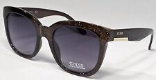GUESS GF0299 05B Ladies Black Glitter Frame Grey Lens Designer Sunglasses NEW