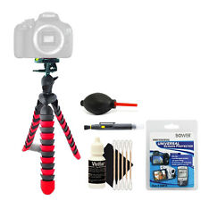 Flexible Tripod + Accessory Kit for Camera Camcorder Portable Travel Tripod