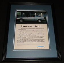 1983 Honda Accord Hatchback 11x14 Framed ORIGINAL Vintage Advertisement