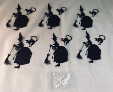 Tim Holtz Halloween Die Cuts: Witchcraft * Six Sets * Witch with Broom & Cat!