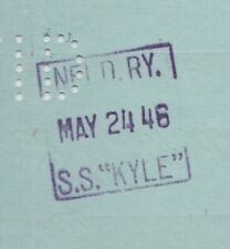 1946 Newfoundland Railway S.S.KYLE Cancelled Bank Of Montreal Cheque