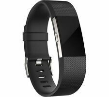 Fitbit Charge 2 Heart Rate Fitness Wristband Black Large