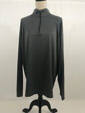 NWOT alo 1/4 zip front L/S Base layer shirt Heathered Gray Sz XL