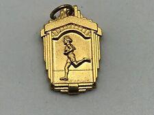 1975 Vtg Womens Track & Field 100 LH 2nd Pl High School College Charm Pendant B6