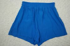 AUGUST STREET cobalt blue high waisted draped shorts size 8 NWOT