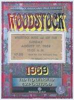 WOODSTOCK festival TICKET stub REPRODUCTION / REPLICA August 17, 1969 Bethel, NY