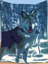Animal Wolf Fleece Throw Blankets Wild Life Decor