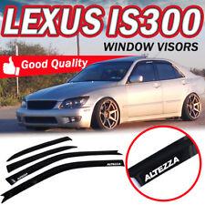 For 01-05 Lexus IS300 4 Door Sun Window Visor Dark Smoke Slim Style ALTEZZA