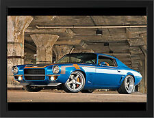 CHEVROLET CAMARO TUNING 1971 NEW A3 FRAMED PHOTOGRAPHIC PRINT POSTER