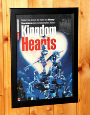Kingdom Hearts Rare Small Poster / Vintage Ad Page Framed PS2 Square Enix