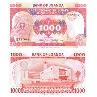 Uganda 1000 Shillings 1986 P-26 Banknotes UNC