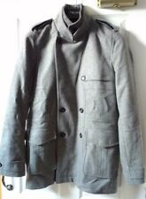 Reiss Men's Grey Military Style Peacoat - A/W 2012, UK Small Excellent Condition