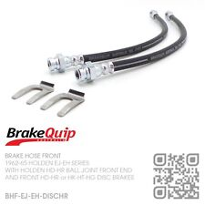 BRAKEQUIP BRAKE HOSE FRONT KIT [HOLDEN EJ-EH WITH HD-HR or HK-HT-HG DISC BRAKES]