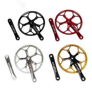 42-58T 130BCD Single Speed Chainset MTB Folding Bike Crankset Chainring Bolt