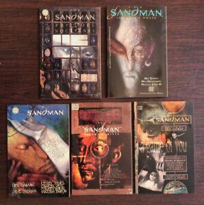 Sandman (DC/Vertigo) Graphic Novels set of 5 TPB Neil Gaiman