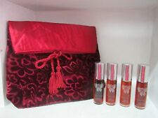 ALBERT NIPON PURE SOFT PERFUME GIFT SET **LOT OF 4** WITH POUCH 0.35 FL OZ EACH