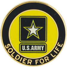 U.S. ARMY - SOLDIER FOR LIFE - PIN - NEW