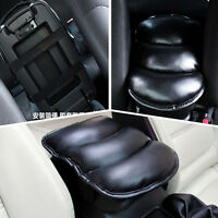 Black Car Center Armrest Console Soft Cushion PU Leather Mat Cover Cushion Pad