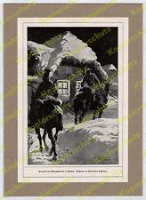 Anton Hoffmann Ulanen Patrouille Pferd Winter Galizien Weihnachten Ostfront 1916