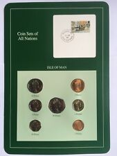 Coin Sets of All Nations ISLE OF MAN 7 Coins 1988