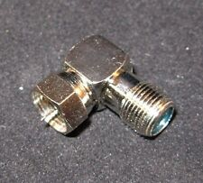 F-Type Male to F-Type Female 3GHz Adaptor Right Angle TV/PAY-TV/SATELLITE
