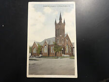 1928 Clifton Forge VA Christian Church Virginia Postcard PC