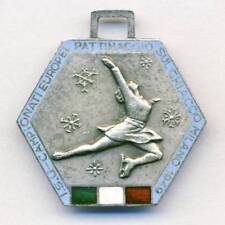 1949 EUROPEAN FIGURE SKATING Championships 6th PLACE MEDAL Hallmarked SILVER