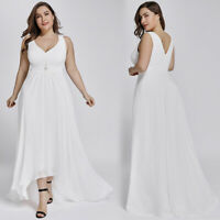 US Ever-Pretty Plus Size Long Formal Evening Party Dresses Chiffon Wedding Gowns