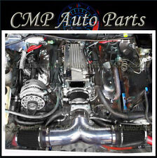 BLACK DUAL AIR INTAKE KIT FIT 1994-1996 CADILLAC FLEETWOOD 5.7 5.7L V8