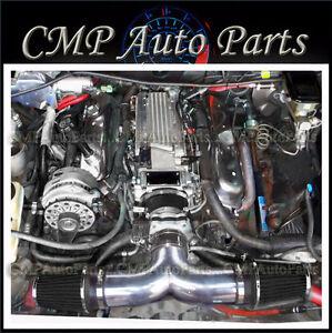 BLACK DUAL AIR INTAKE KIT FIT 1994-1996  CHEVY IMPALA SS CAPRICE 4.3L 5.7L V8