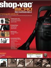 SHOP VAC MICRO Rechargeable 4L Wet & Dry Vacuum Cleaner 3 YEAR WARRANTY