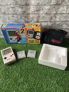 Nintendo GameBoy DMG Boxed - Carry Case Edition - 2 Mario Games Included