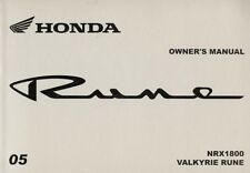 2005 HONDA NRX1800 VALKYRIE RUNE MOTORCYCLE OWNERS MANUAL -NRX 1800 RUNE