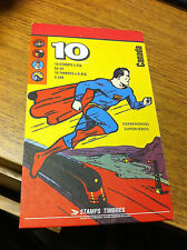 RARE 1995 CANADA POST CANADIAN SUPERHEROES BOOK OF 10 STAMPS NEAR MINT SUPERMAN