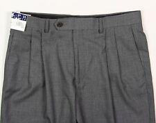 Men's RALPH LAUREN Gray Blue Plaid Dress Pants 40x30 40 NWT NEW Washable