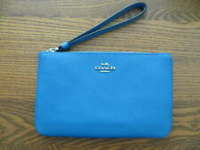 NEW COACH CORNER ZIP LARGE WRISTLET F57465  HOLDS I-PHONE PLUS BLUE MSRP $125