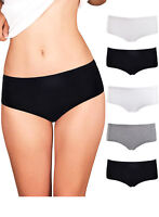 Womens Plus Size Underwear Hipster Briefs Seamless Lot of 3-10 Assorted Packs