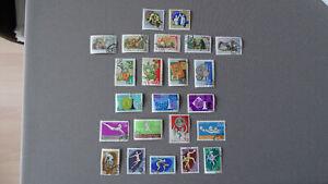 6 Satz Briefmarken, Russland, Schach, Märchen, Volkskunst, Spartakiade 1959-1963