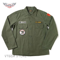 NON STOCK OG-107 Utility Fatigue Shirt Men's WW2 US Army Military Uniform Jacket