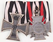 MEDAL WW1 GERMAN GROUP OF 2 MEDALS - IRON CROSS 2ND CLASS + CROSS OF HONOUR (13)