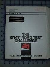 1987 Ford Merkur Brochure Mailer XR4Ti Road Test Challenge