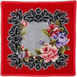 FEILER Maria Theresia Wash Towl Handkerchief Ladies Red Celebration Gift Germany
