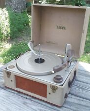 Vintage DECCA Model DP-540 RECORD PLAYER  with BSR MONARCH Turntable Suitcase