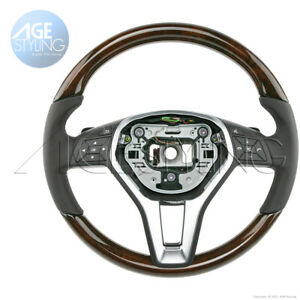 OEM Mercedes-Benz CLS550 250 E350 E400 E550 Walnut Wood & Leather Steering Wheel