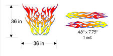 Classic Hood and Side Flames - Blue Shadow * Vinyl Decal Kit * Vehicle Stickers