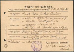 Sachsen-Anhalt/Stendal original Geburts- u.Taufregisterschein 24. Okt. 1942 (10)