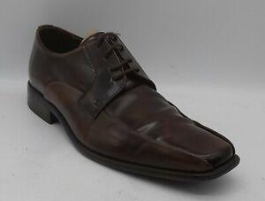 Men's M & S Autograph Size 8 UK 42 EU Brown Patent Leather Shoes Laced In VGUC