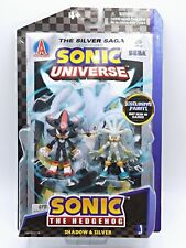 Sonic The Hedgehog Toy Shadow & Silver Comic Book Pack 2 Figures Exclusive Paint