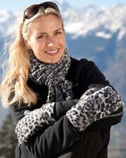 Result Winter Essentials Snow Leopard Print Set Ladies Scarf & Gloves (R366X)